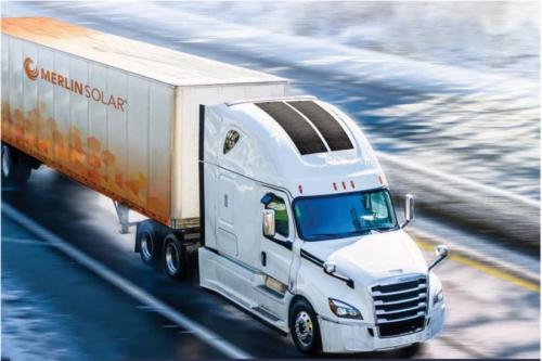 Merlin Solar обеспечит грузовики энергией