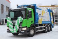 Мусоровоз Scania на метане
