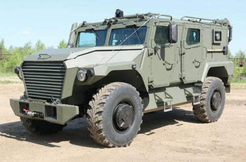 Новый российский полицейский бронеавтомобиль