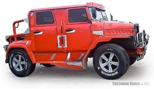 Пикап-самоделка на шасси ГАЗ-66