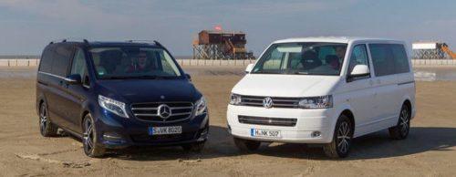 Mercedes-Benz Viano и и Volkswagen Multivan