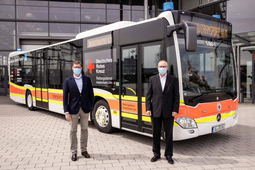 Немцы для больных с коронавирусом переоборудовали автобус