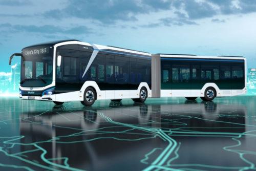 Автобус MAN - «электрогармошка» длиной 18 метров