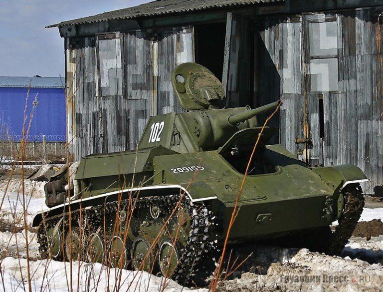 Малоизвестный танк Т-70 времен Великой Отечественной Войны