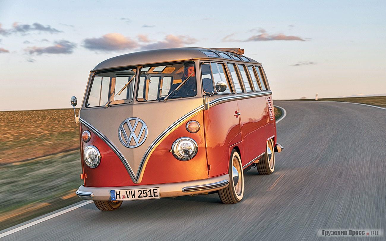 Микроавтобус Volkswagen T1 Samba выпуска 1966 года перевели на электротягу