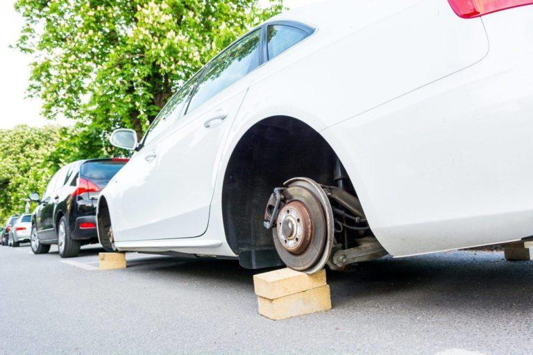 Защита автомобильных колёс от кражи