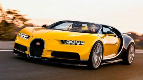 Bugatti Chiron в кузове родстер