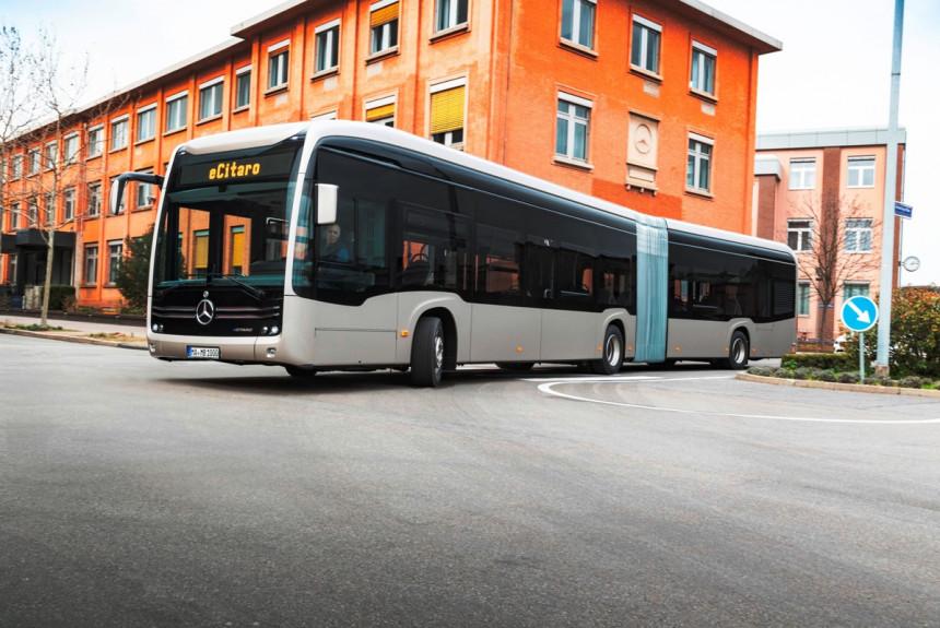 Сочлененный электробус Mercedes eCitaro G
