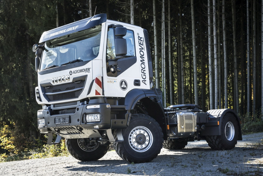 IVECO Trakker переделали в трактор