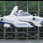 Испытания летающего автомобиля SkyDrive с пилотом