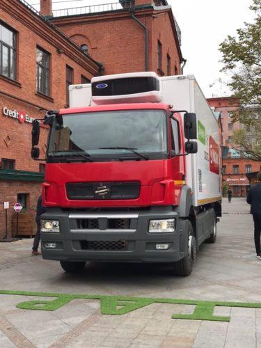 Электрический грузовик под названием MOSKVA