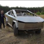 Российская копия Tesla Cybertruck на бездорожье