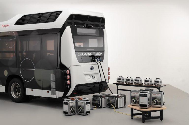 Toyota FC Bus поделится электроэнергией
