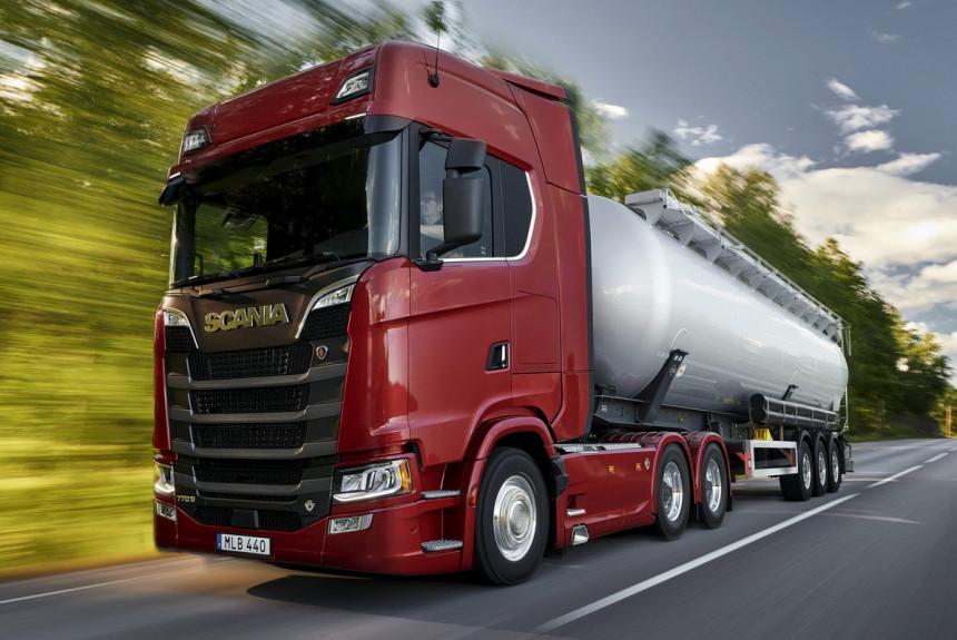 Рекорд мощности нового тягача Scania