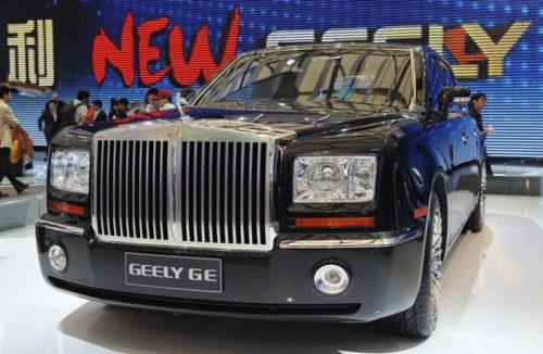 Рейтинг образцов автомобильного плагиата из Китая