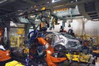 Цех сварки кузовов для автомобилей Aurus