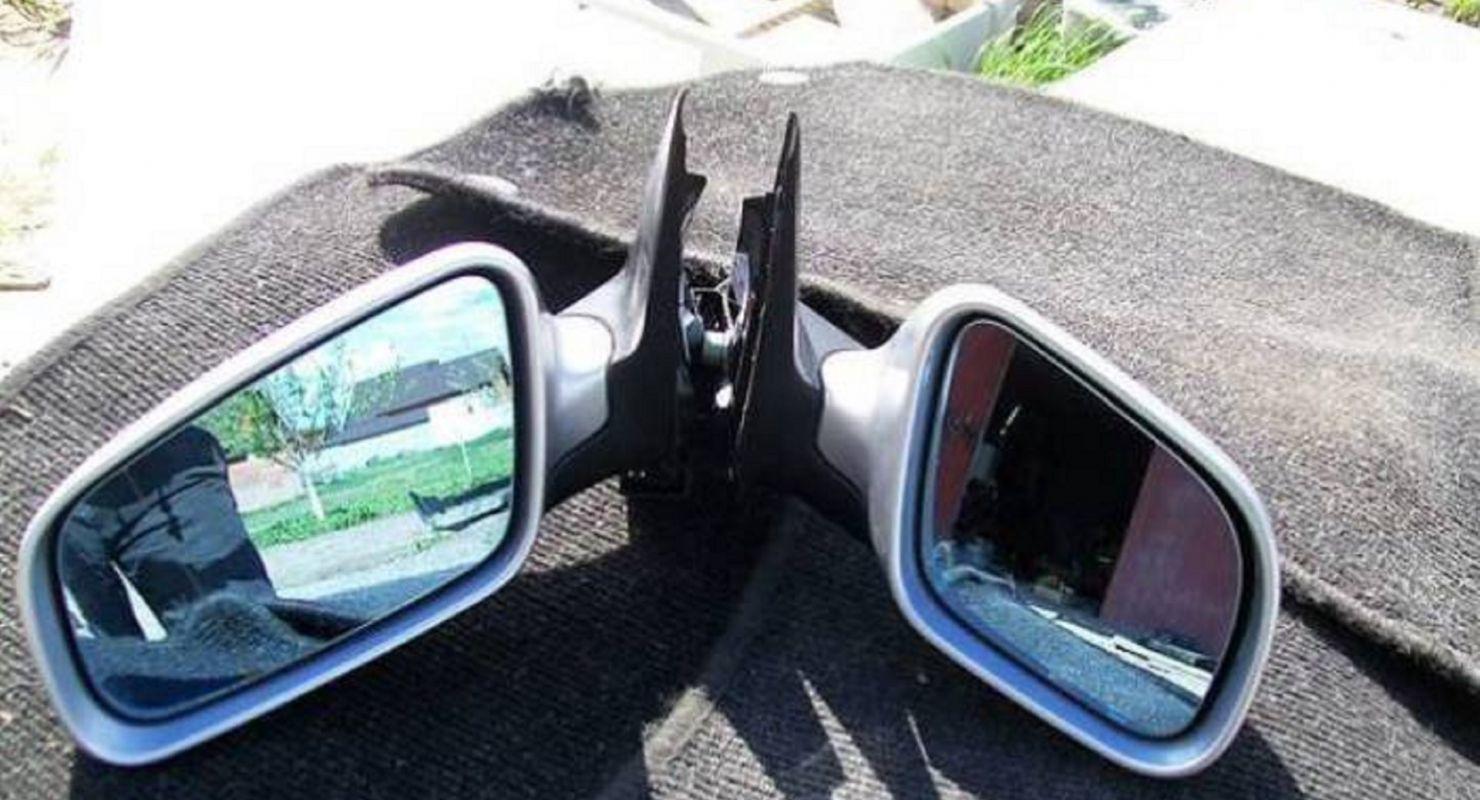 правые боковые зеркала у машин делали короче левых