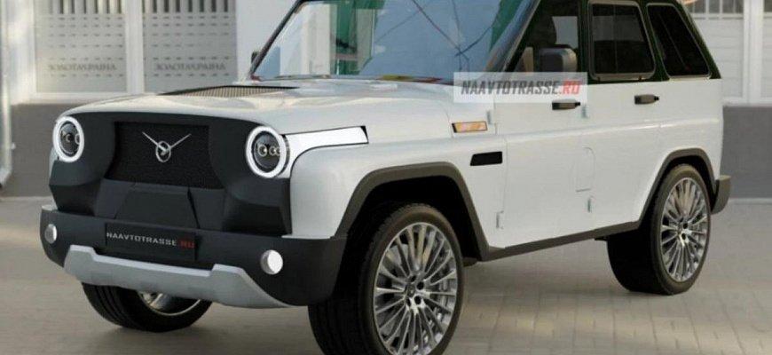 УАЗ «Хантер-469» с купеобразным кузовом