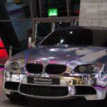 BMW M3 с полностью хромированным кузовом