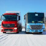 Электрические грузовики Mercedes – зимние испытания