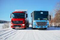 Электрические грузовики Mercedes