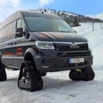 Фургон MAN TGE на гусеницах для горнолыжных курортов
