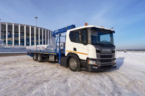 Scania - новый эвакуатор для транспортировки спецтехники