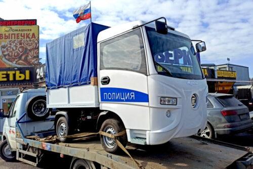 Тульский электрогрузовичок Муравей — в помощь полиции