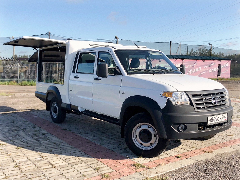 Фургон УАЗ на базе «Профи» с двухрядной кабиной