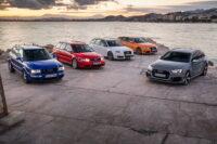 Гонка между четырьмя поколениями универсалов Audi RS6