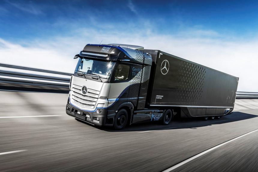 Daimler - водородный автопоезд