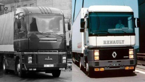 Сходство французского Renault Magnum с белорусским МАЗ