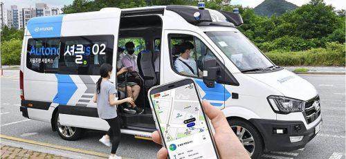 Hyundai - автономный фургон с искусственным интеллектом RoboShuttle
