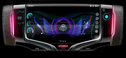 General Motors - революционный руль с игровым дисплеем