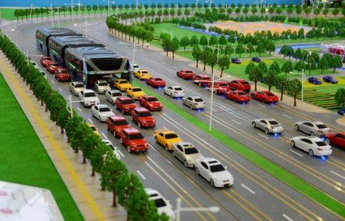 Китайцы разработали «наддорожный» автобус