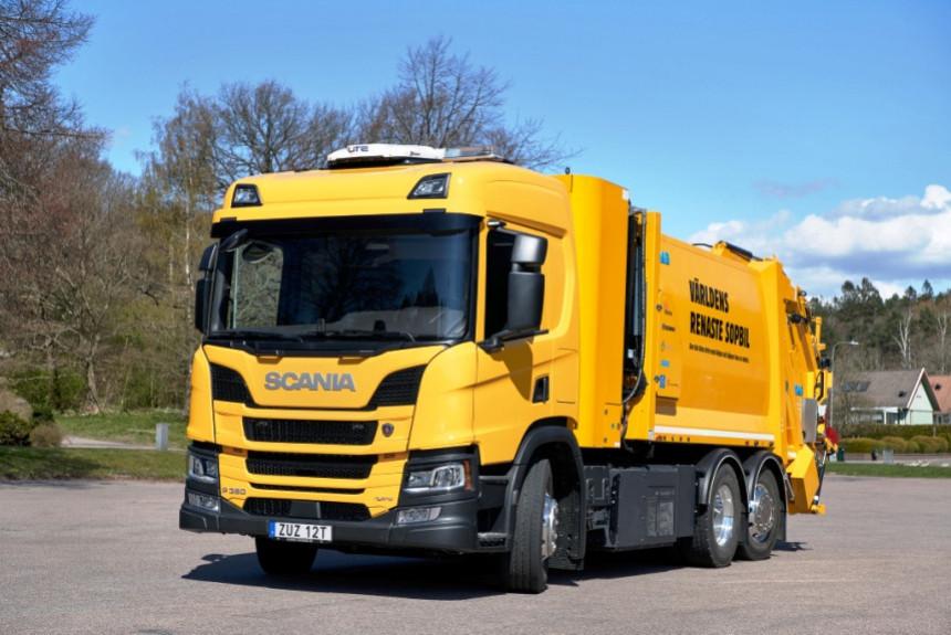 Первый водородный мусоровоз Scania