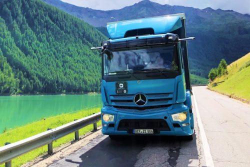 Mercedes eActros - последние испытания в горах