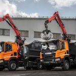 Scania – новые ломовоз и газовый крюковой погрузчик